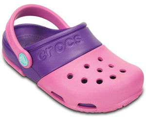 Crocs Electroclog 15608 Girls Party Pink & Neon Purple Clogs