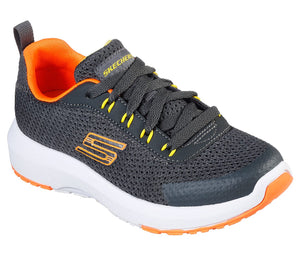 Skechers 98150L Dynamic Tread Nitrode Boys Charcoal/Orange Trainers