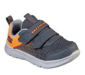 Skechers 400044N Comfy Flex 2.0 Micro Rush Boys Charcoal/Orange Trainers - elevate your sole