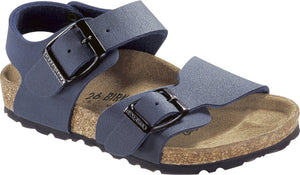 Birkenstock 87773 New York Kids BFBC Navy Buckle Sandals