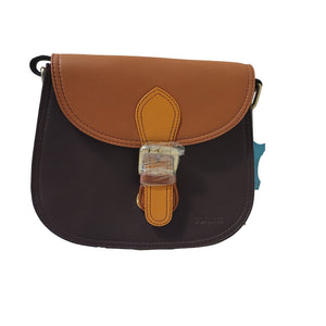 Soruka 047273 Brown Combi Orange Leather Shoulder Bag