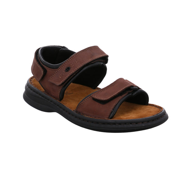 Josef Seibel Rafe 11 Brown Leather Mens Open-toe Walking Sandals