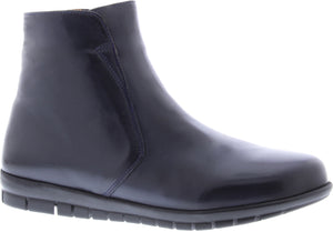 Adesso A5550 Fran Ladies Navy Leather Ankle Boots