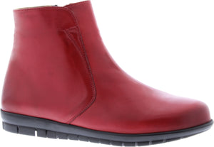 Adesso A5548 Fran Ladies Scarlet Leather Ankle Boots