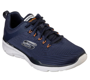 Skechers 52927 Equalizer 3.0 Men's Navy/Orange Lace Up Trainers
