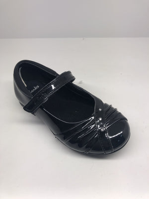 Clarks Dolly Shy Girls Black Patent Leather Shoes