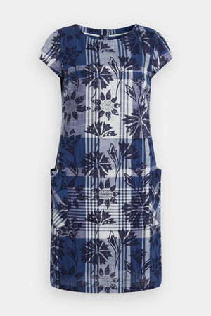 Seasalt South Downs Way Dress Sketched Motifs Marine - elevate your sole