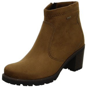 Ara 12-47302-05 Ladies Cognac Brown Waterproof Heeled Ankle Boots