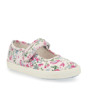 Start-Rite Posy 6881-8 Girls Pink Floral Canvas Shoe