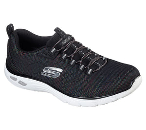 Skechers 12829 Black Multi Empire D'Lux Vivid Spark Elasticated Trainers - elevate your sole