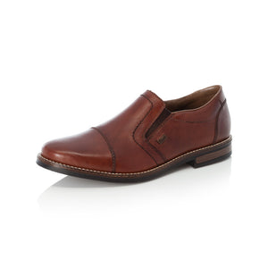 Rieker 13572-24 Mens Brown Leather Slip On Shoes