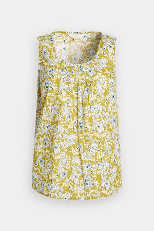 Seasalt Craft Fair Ladies Sleeveless Top in Painted Campion Dune Yellow
