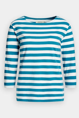 Seasalt Sailor Ladies Organic Cotton Top in Cornish Waterscape Chalk