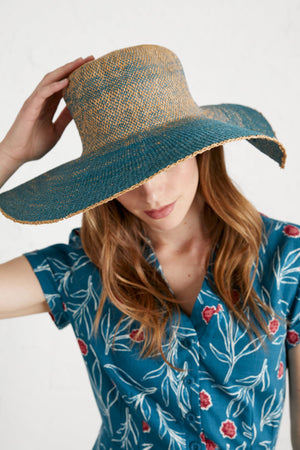 Seasalt Light And Shade Ladies Hat in Composition Swell
