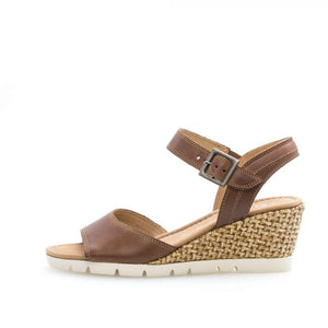Gabor 22.842.53 Peanut Leather Wedge Heel Sandal