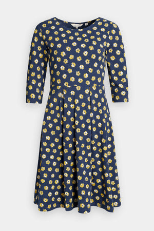 Seasalt The Mouls Dress ll Ladies Primrose Spot Dune Navy Floral Dress