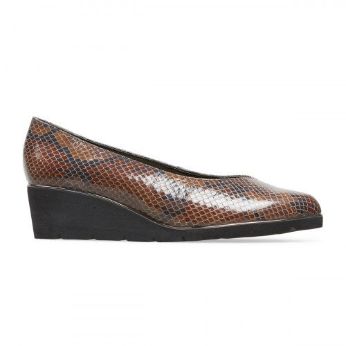 Van Dal Ariah X Autumn Snake Leather Wedge Shoes EE