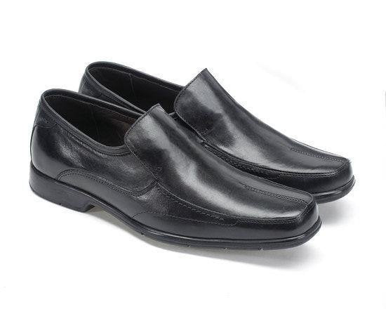 Anatomic Petropolis Black Leather Slip on Shoes