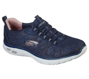 Skechers 149271 Empire D'Lux Charming Grace Ladies Navy And Rose Gold Slip On Shoe