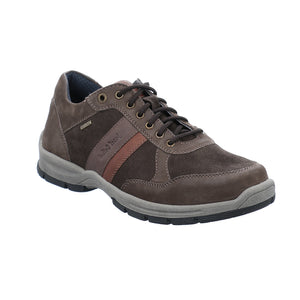 Josef Seibel Lenny 51 Braun Kombi Wide Fit Mens Waterproof Lace Up Shoe
