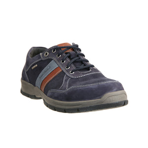 Josef Seibel Lenny 51 Indigo Kombi Mens Wide Fit Waterproof Lace Up Shoe
