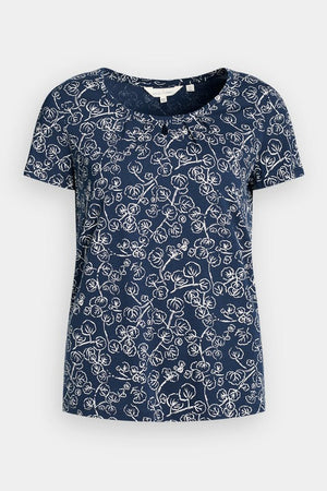Seasalt Appletree Ladies Bamboo Cotton Top in Trailing Vine Harbour