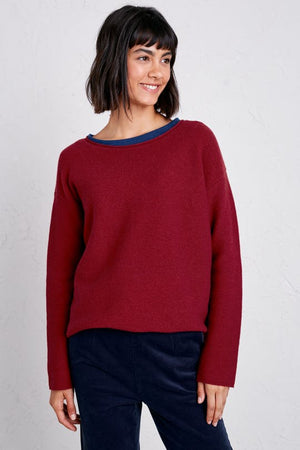 Seasalt Fruity Merino Jumper II Flag Red - elevate your sole