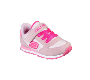 Skechers 82256N Girls Pink Suede Retro Sneaks