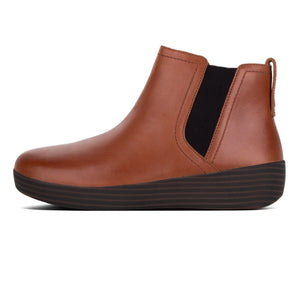 Fitflop C45-277 Superchelsea Ladies Dark Tan Leather Ankle Boots