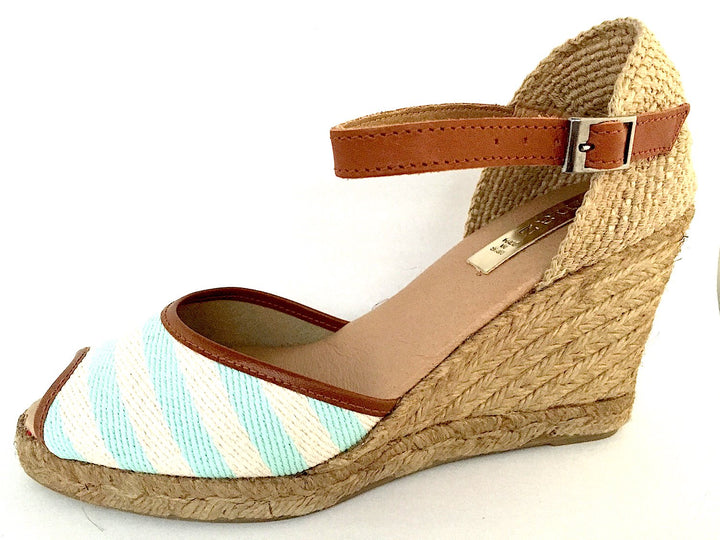 Pinaz Nautical Stripe Espadrille Sandals - elevate your sole