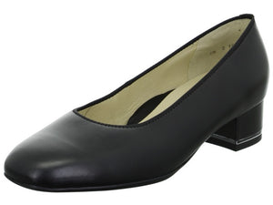 Ara 12-11838 Ladies Black Leather Court Shoes - elevate your sole