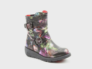 Heavenly Feet Ellie Girls Black Multi Boot