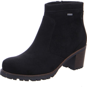 Ara 12-47302-01 Ladies Black Heeled Warm Lined Ankle Boots