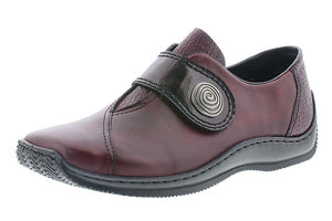 Rieker L1760-35 Burgundy Hook And Loop Casual Shoes - elevate your sole