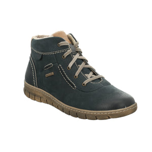 Josef Seibel Steffi 53 Navy Blue Waterproof Ankle Boots - elevate your sole
