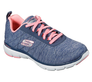 Skechers 13067 Insiders Navy Air Cooled Memory Foam Lace Up Trainer - elevate your sole