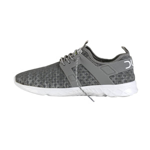 Dude Mistral Grey Melange Ladies Lace Up Trainers - elevate your sole