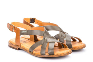 Pikolinos W0X-0556 Ficus Sage Green Tan Leather Ladies Sandals - elevate your sole