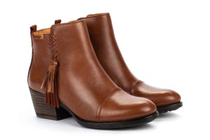 Pikolinos W9M 8941 Cuero Cognac Brown Leather Ankle Boots