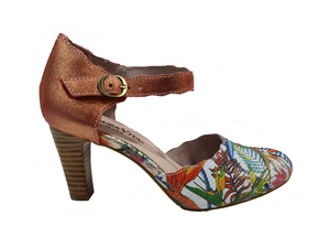 Laura Vita Alcbaneo 54 Ladies Coral Leather Heel