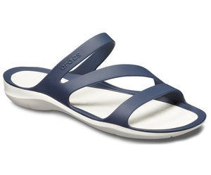 Crocs Swiftwater 203998 Ladies Navy and White Sandal