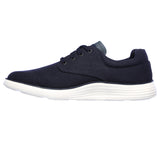 Skechers 204083 Status 2.0 Burbank Mens Navy Lace Up Shoes
