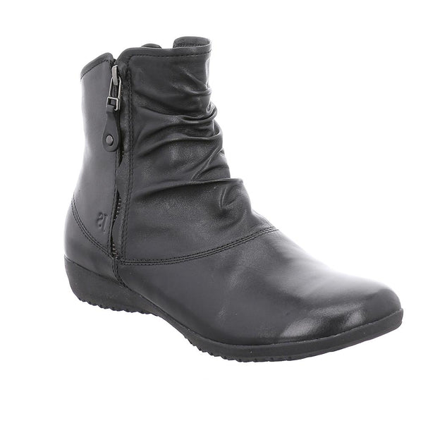 Josef Seibel Naly 24 Black Leather Zip up Boots