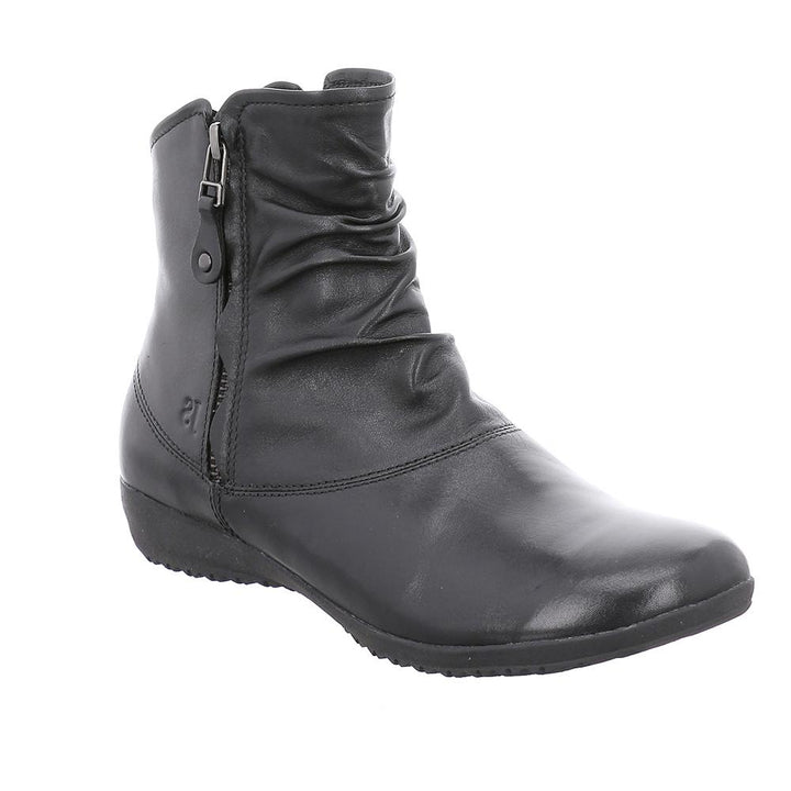 Josef Seibel Naly 24 Black Leather Zip up Boots - elevate your sole