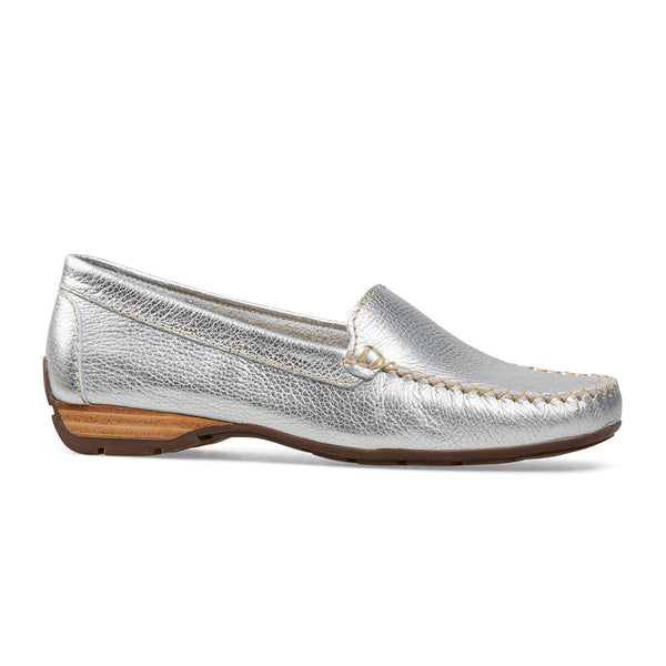 Van Dal Sanson Metallic Leather Loafer Shoes