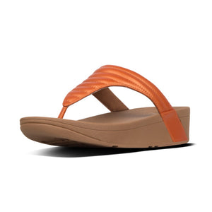 FitFlop T76 Lottie Ladies Amber Ash Padded Toe Post