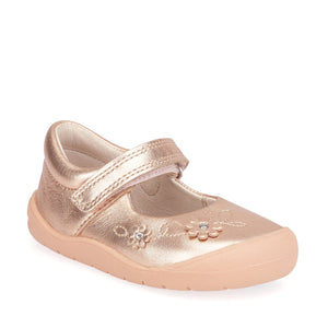 Start-Rite Flex 0758-6 Girls Rose Gold Leather First Shoe - elevate your sole