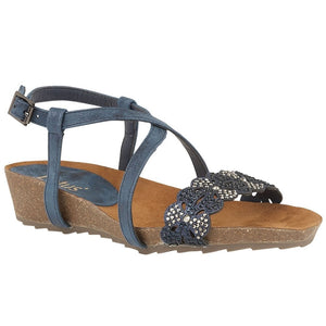 Lotus Sienna Ladies Navy Glitz Ladies Sandal
