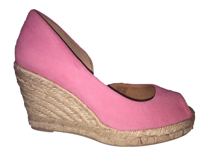 Pinaz 153 Coral Suede Rope Wedge Sandals - elevate your sole