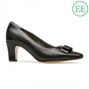 Van Dal Kett Black Reptile Print Wide Fitting Shoes